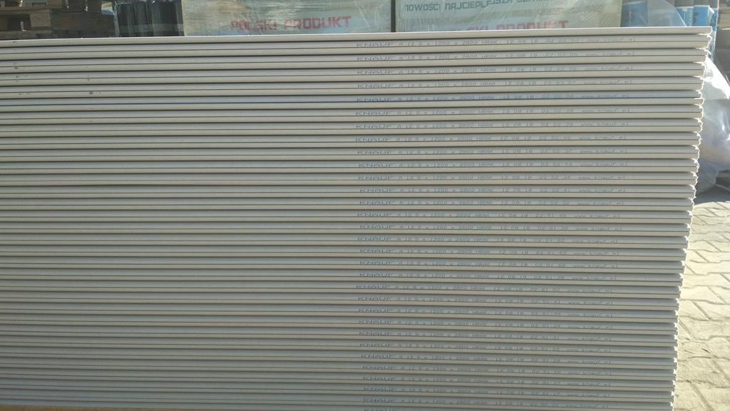 Płyta gipsowo-kartonowa zwykła KNAUF