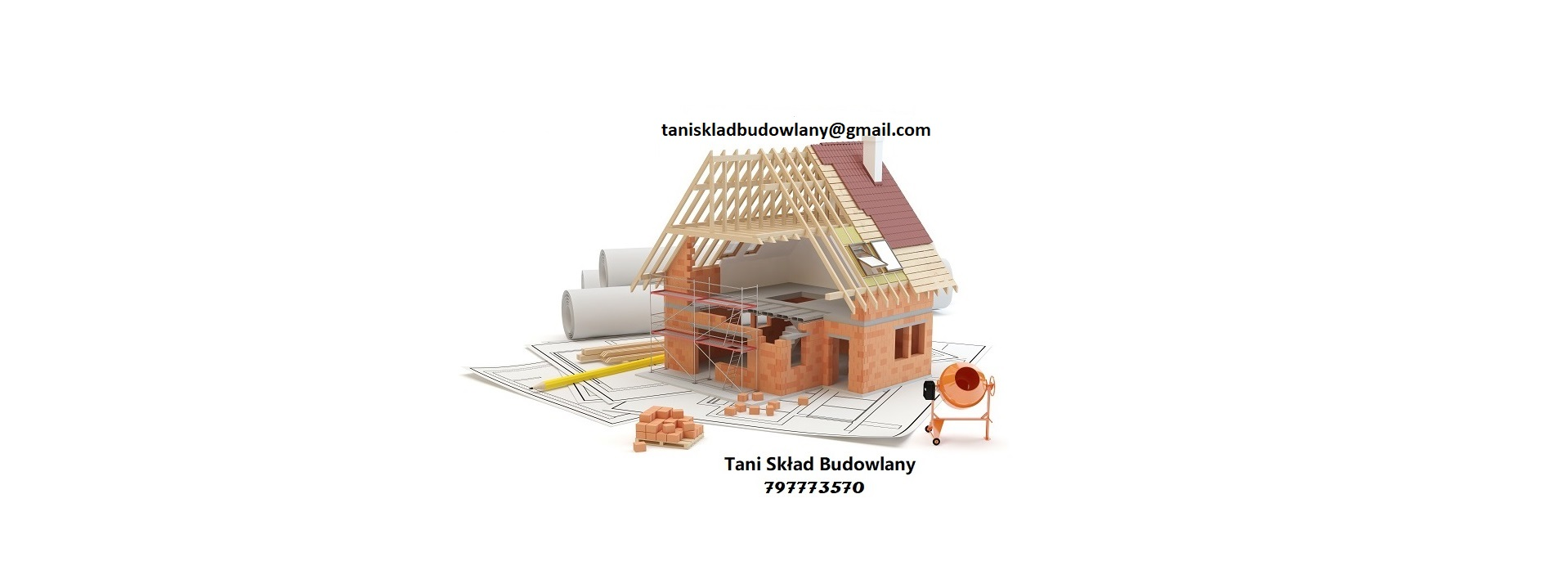 House construction – white background