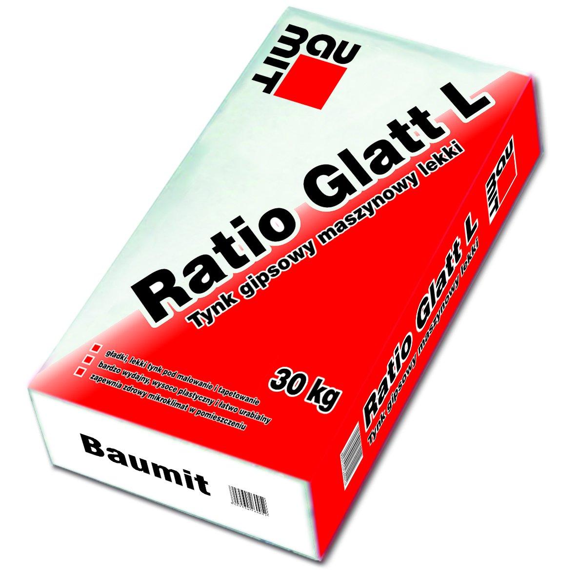 Tynk gipsowy Baumit Ratio Glatt L – 30 kg