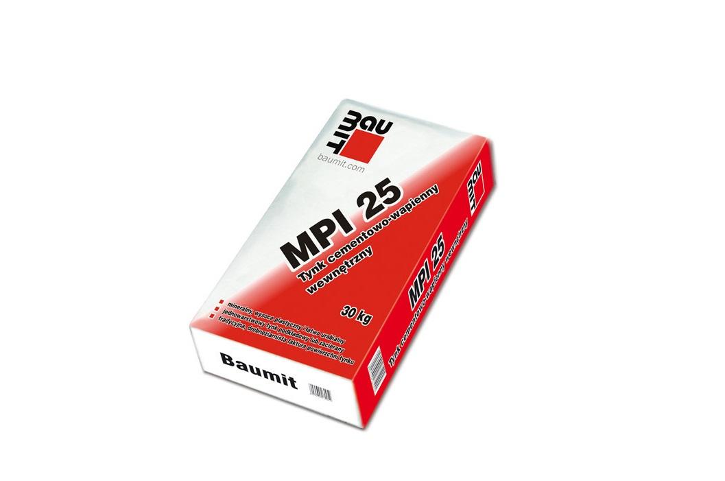 Tynk Maszynowy Baumit  MPI 25 wewnętrzny – 30 kg