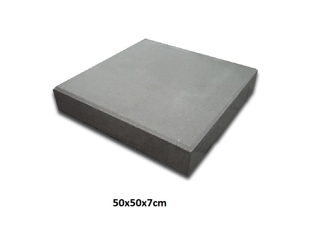 Płytka Chodnikowa Bruk Kostka Chodnikowa 50x50x7 szara